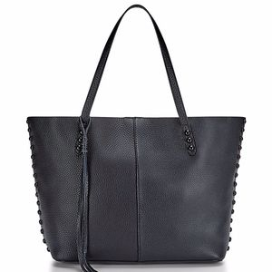 Rebecca Minkoff Unlined Black Genuine Leather Tote